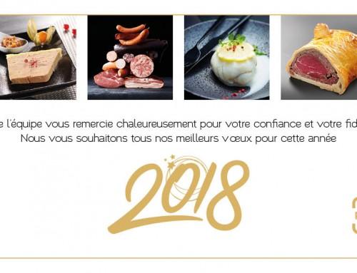 Nous vous souhaitons une très belle année 2018 !